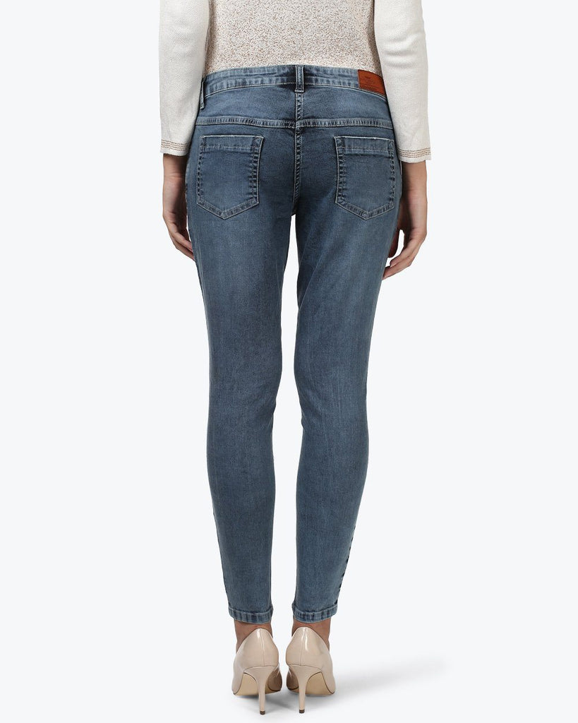 Park Avenue Woman Blue Power Skinny Fit Jeans