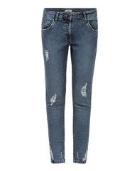Park Avenue Woman Medium Grey Skinny Fit Jeans