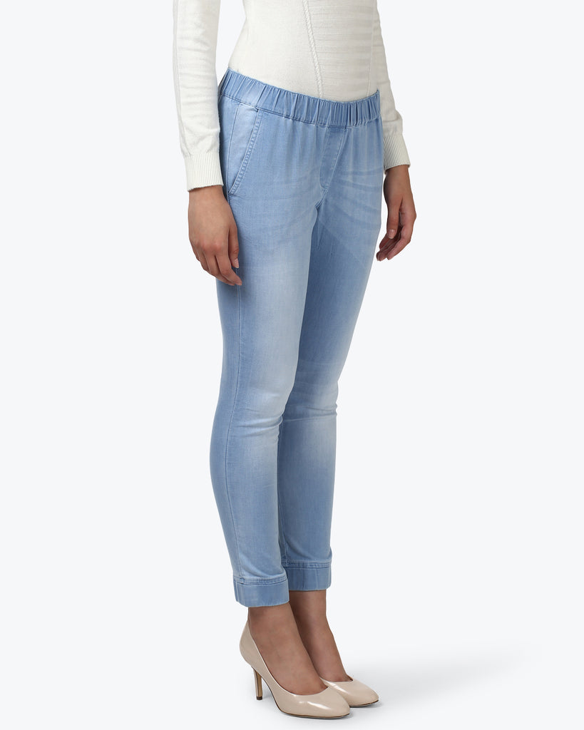 Park Avenue Woman Light Blue Comfort Fit Jeans