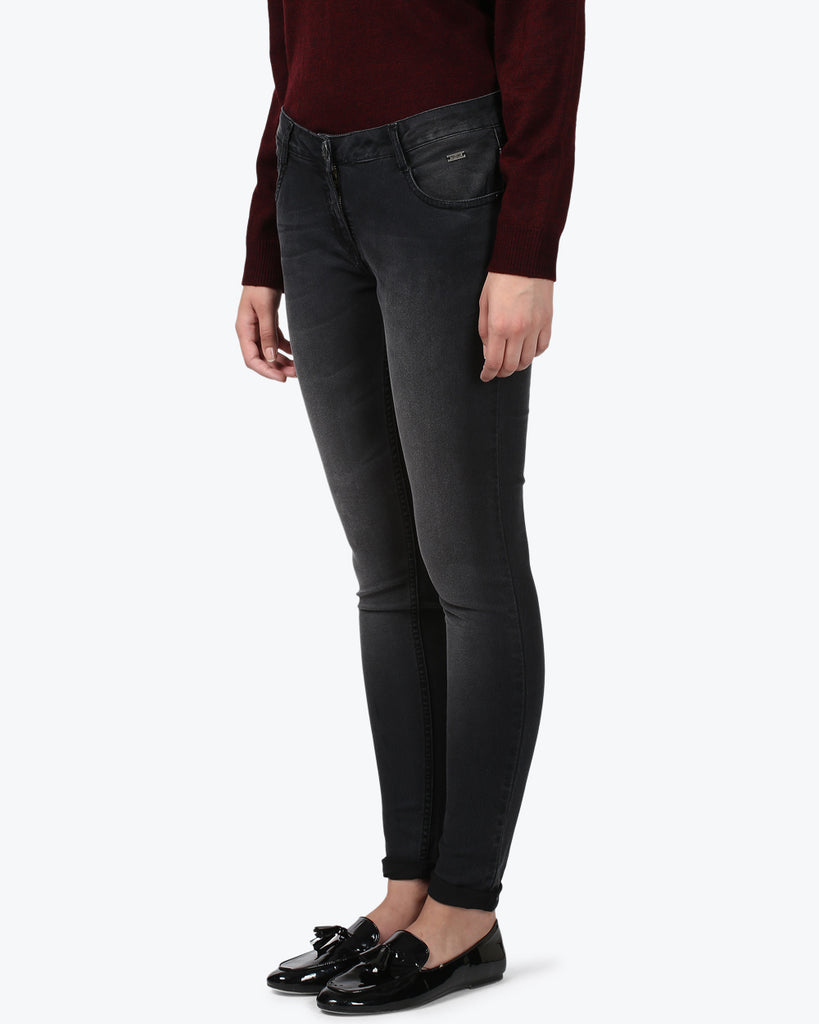 Park Avenue Woman Black Super Slim Fit Jeans