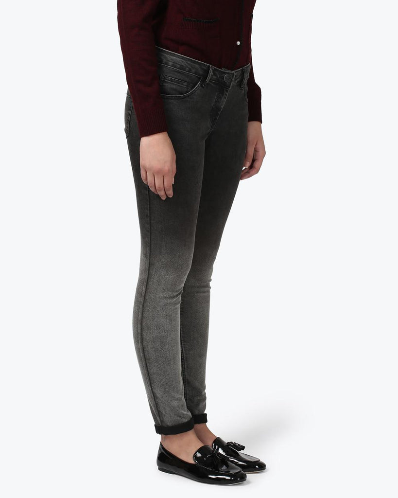 Park Avenue Woman Black Power Skinny Fit Jeans