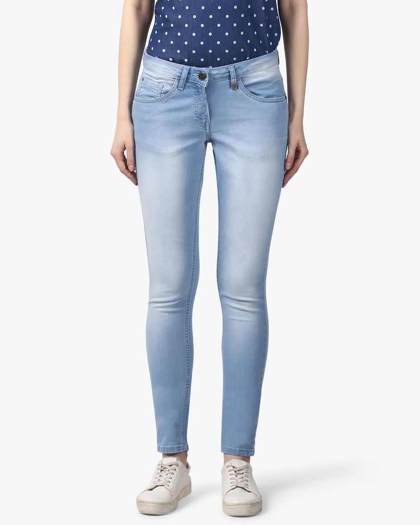 Park Avenue Woman Blue Power Skinny Jeans