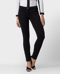 Park Avenue Woman Black Skinny Fit Jeans