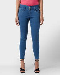 Park Avenue Woman Blue Tapered Fit Jeans