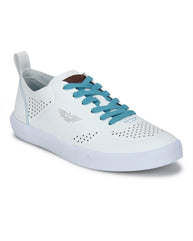 Park Avenue White Casual Shoes