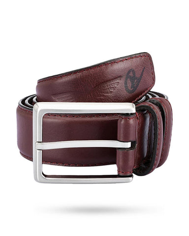 Park Avenue Maroon Leather Belts