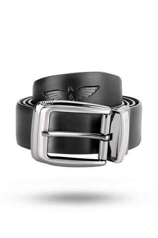 Park Avenue Black Leather Belts