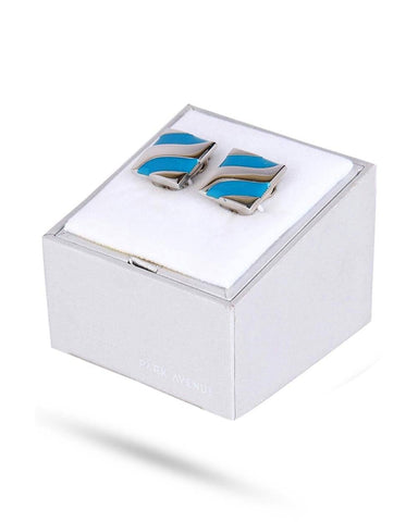 Park Avenue Blue Metal Cufflink