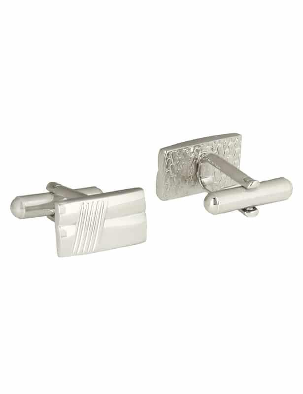 Park Avenue Silver Metal Cufflinks