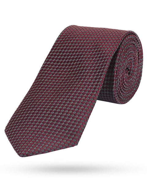 Park Avenue Medium Maroon Regular Fit Tie