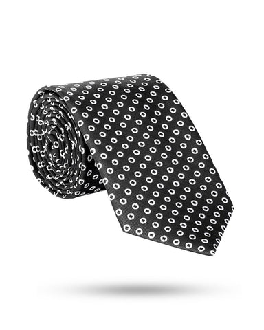 Park Avenue Black Polyester Ties