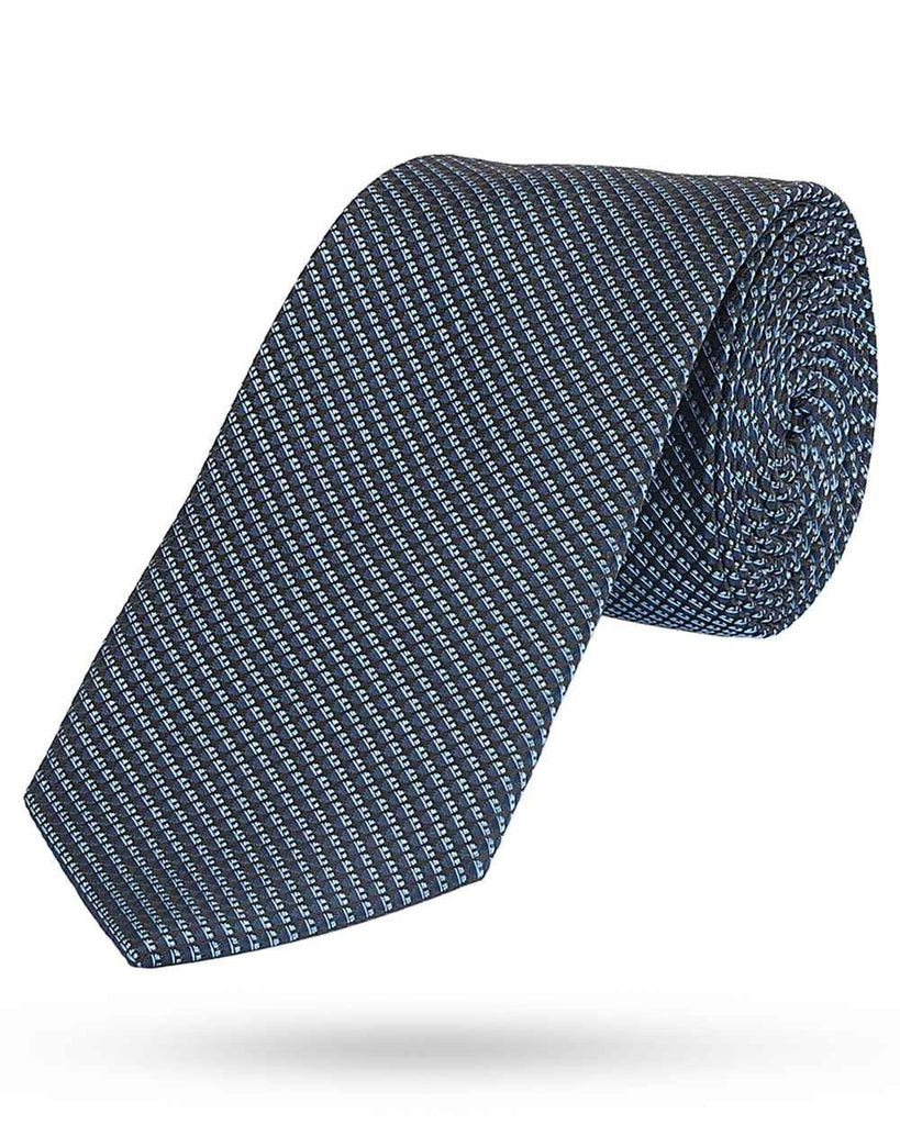 Park Avenue Dark Blue Regular Fit Tie