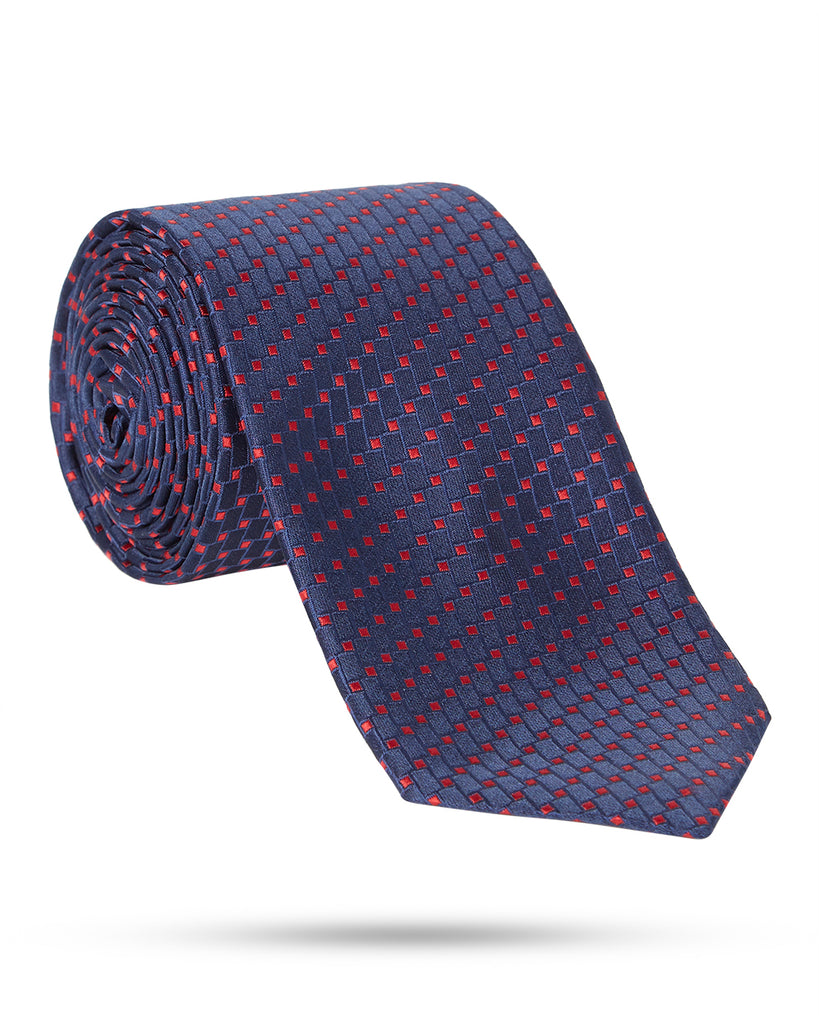 Park Avenue Dark Blue Regular Fit Neck Tie