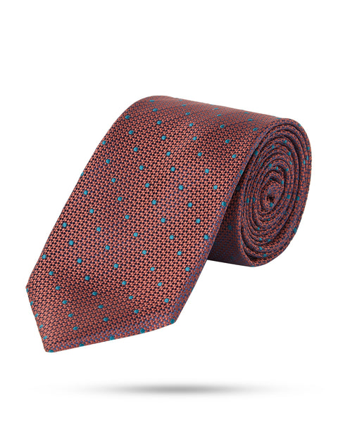 Park Avenue Dark Brown Regular Fit Neck Tie
