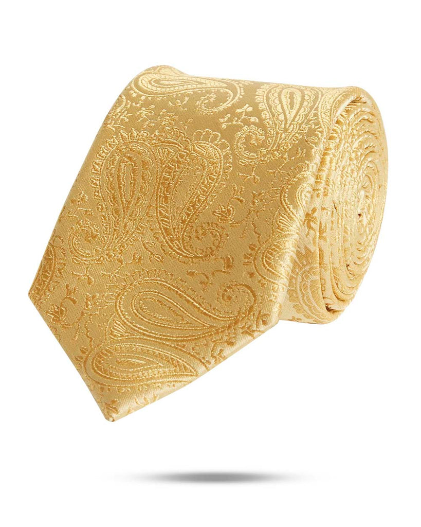 Park Avenue Dark Yellow Regular Fit Neck Tie