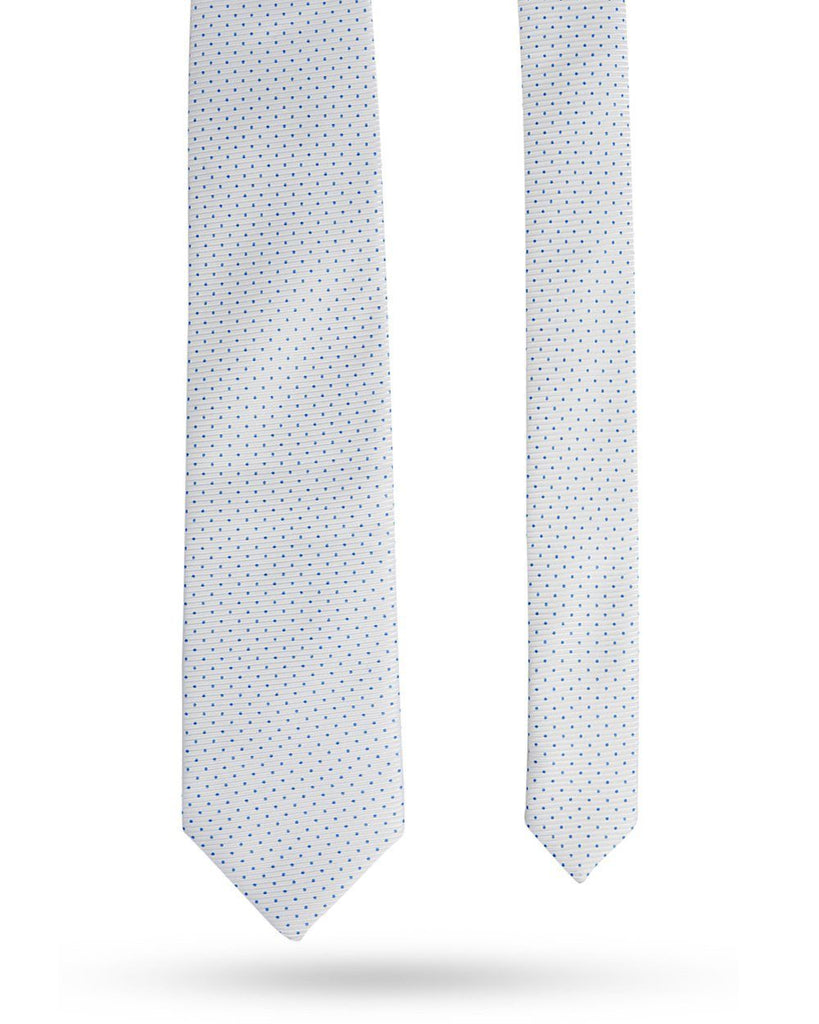 Park Avenue White Polyester Tie