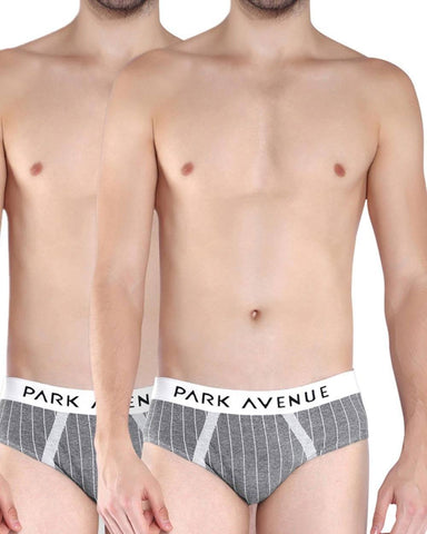 Park Avenue White Briefs Pack Of 2