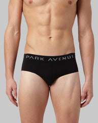 Park Avenue Black Regular Fit Brief