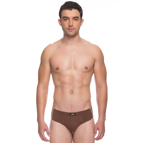 Park Avenue  Brown Slim Fit Brief