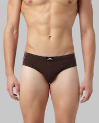 Park Avenue Brown Regular Fit Brief
