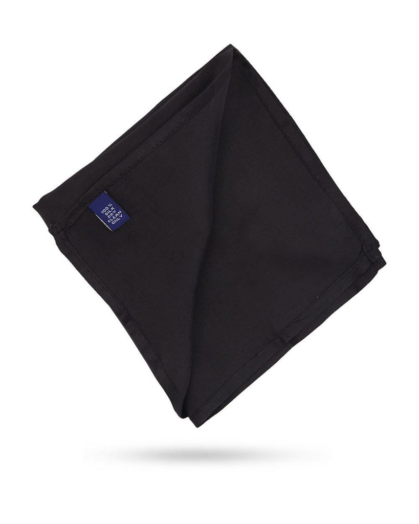 Park Avenue Black Silk Pocket Square