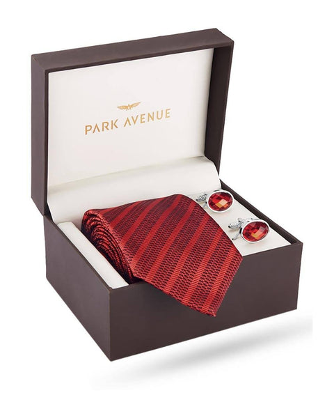 Park Avenue Maroon Polyester Blend Giftsets