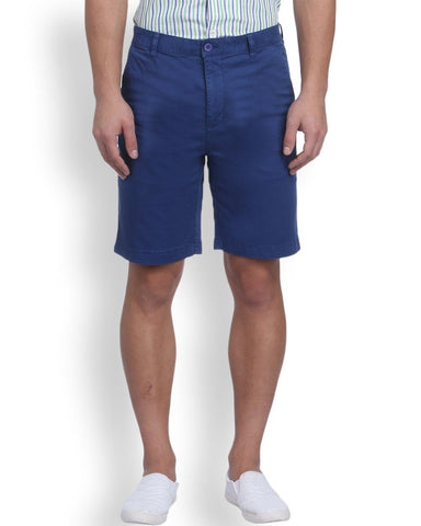 Raymond Blue Contemporary Fit Shorts