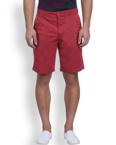 Raymond Red Contemporary Fit Shorts