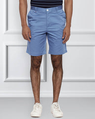 Raymond Medium Blue Contemporary Fit Shorts