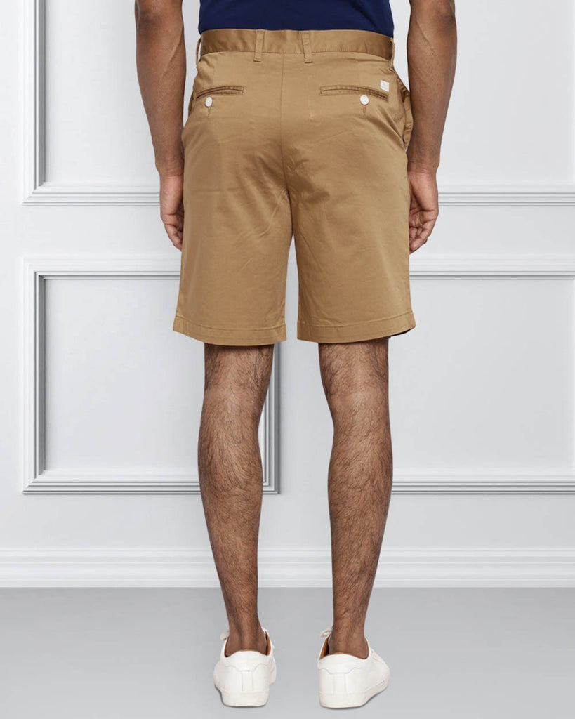 Raymond Medium Khaki Contemporary Fit Shorts