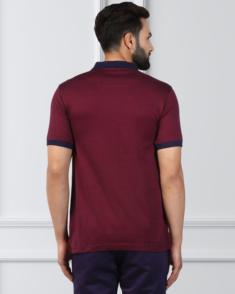 raymond Dark Maroon Contemporary Fit T-Shirt