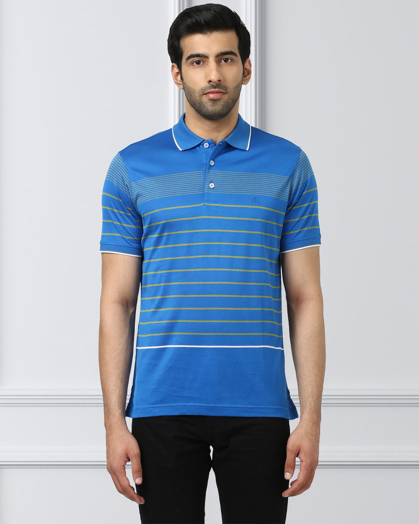 Raymond Blue Regular Fit T-Shirt