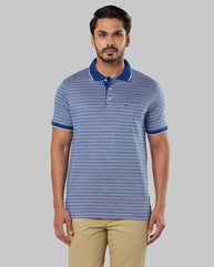 Raymond Medium Blue Regular Fit T-Shirt