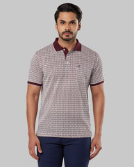 Raymond Dark Maroon Regular Fit T-Shirt