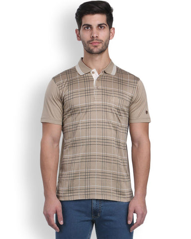 Raymond Khaki Contemporary Fit T-Shirt