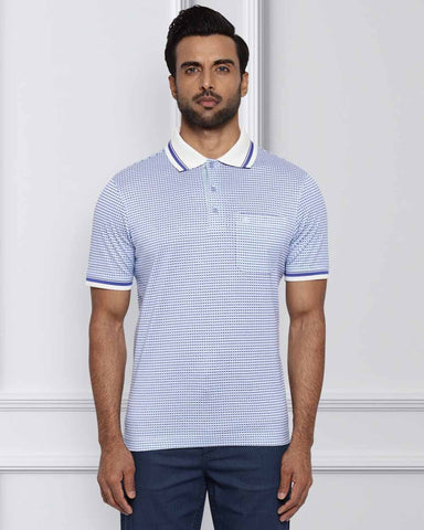 Raymond Light Blue Contemporary Fit T-Shirt