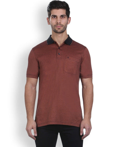 Raymond Orange Contemporary Fit T-Shirt