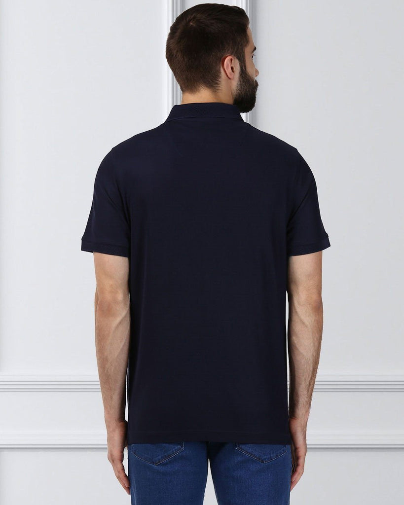 Raymond Supima Men Blue Contemporary Fit T-Shirt