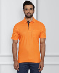 Raymond Medium Orange Contemporary Fit T-Shirt