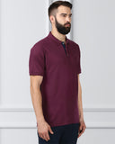 Raymond Dark Violet Contemporary Fit T-Shirt
