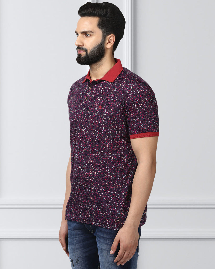 Raymond Maroon Contemporary Fit T-Shirt