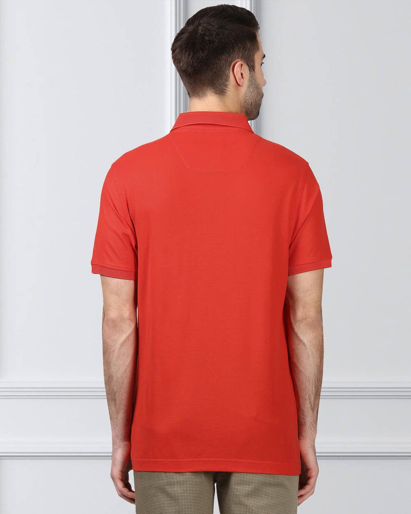 Raymond Red Contemporary Fit T-Shirt