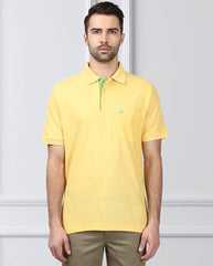 Raymond Yellow Contemporary Fit T-Shirt