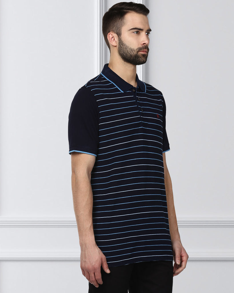 Raymond Blue Contemporary Fit T-Shirt