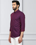 Raymond Purple Slim Fit Shirt