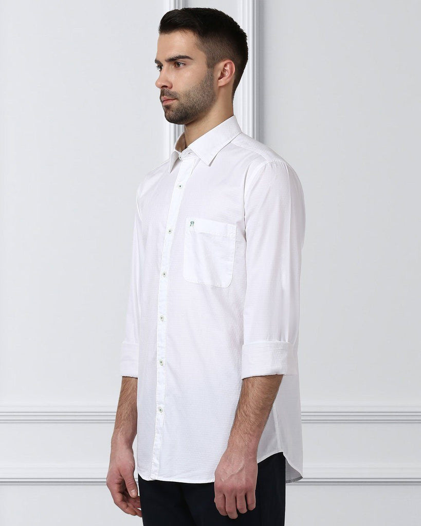 Raymond White Contemporary Fit Shirt
