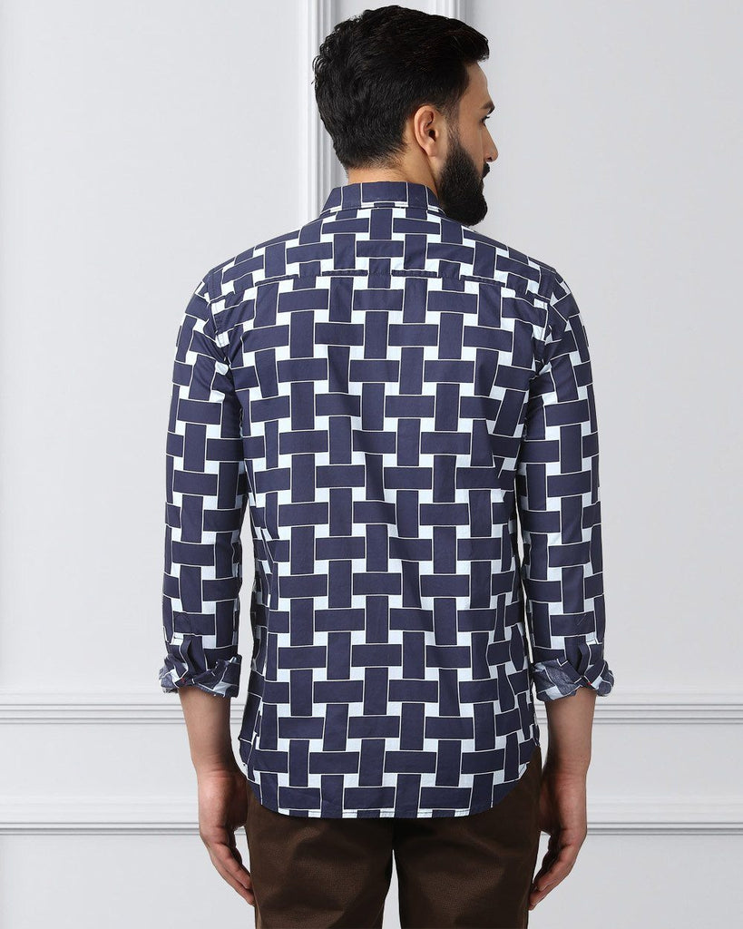 Raymond Blue Contemporary Fit Shirt
