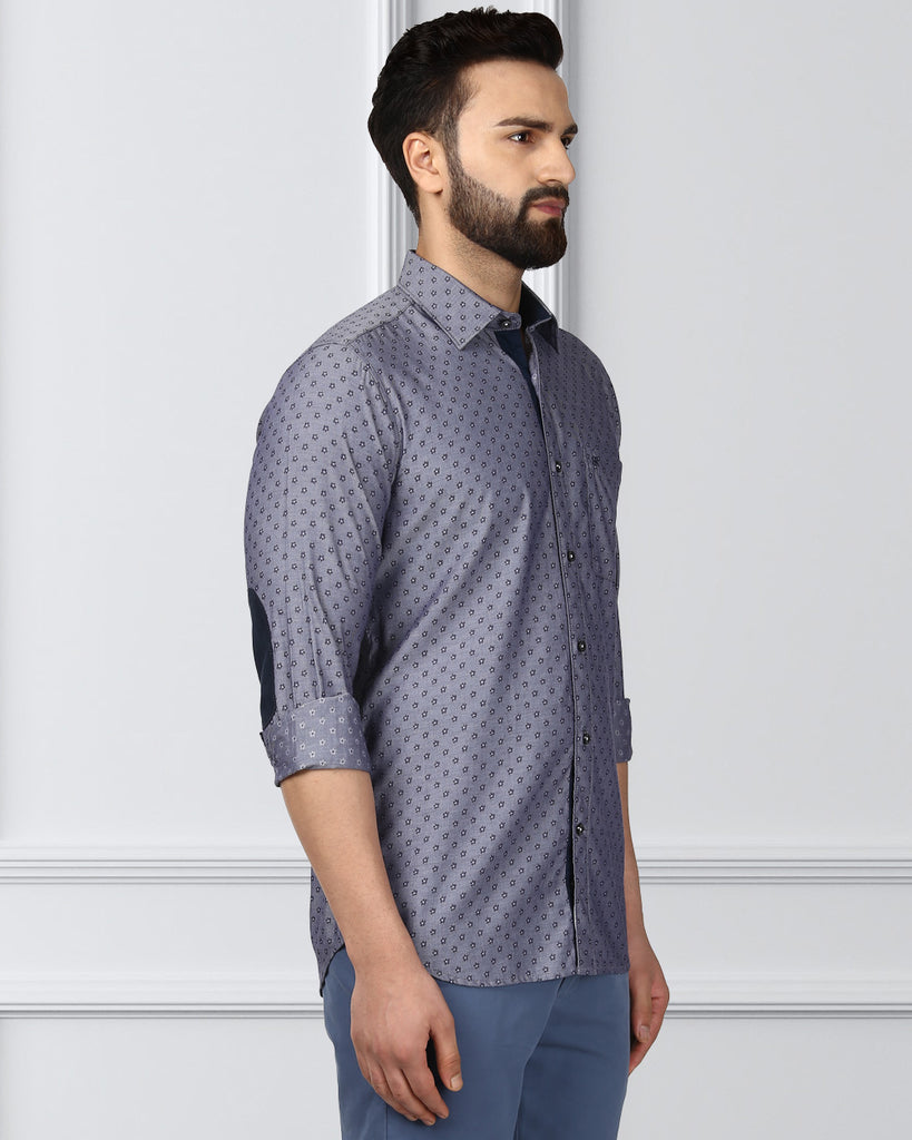 Raymond Medium Blue Contemporary Fit Shirt