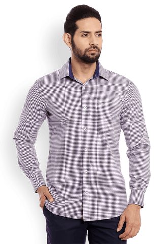 Raymond  Purple Smart Fit Shirt