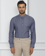 Raymond Dark Violet Slim Fit Shirt